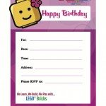 BRICKS-4-KIDZ- Best LEGO Birthday-Invite Girls