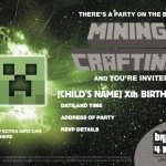 BRICKS-4-KIDZ- Best LEGO Birthday-Invite MINECRAFT