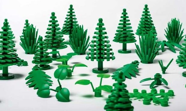 sustainable lego pieces of trees