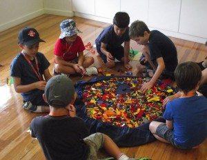 Birthday party fun with Lego