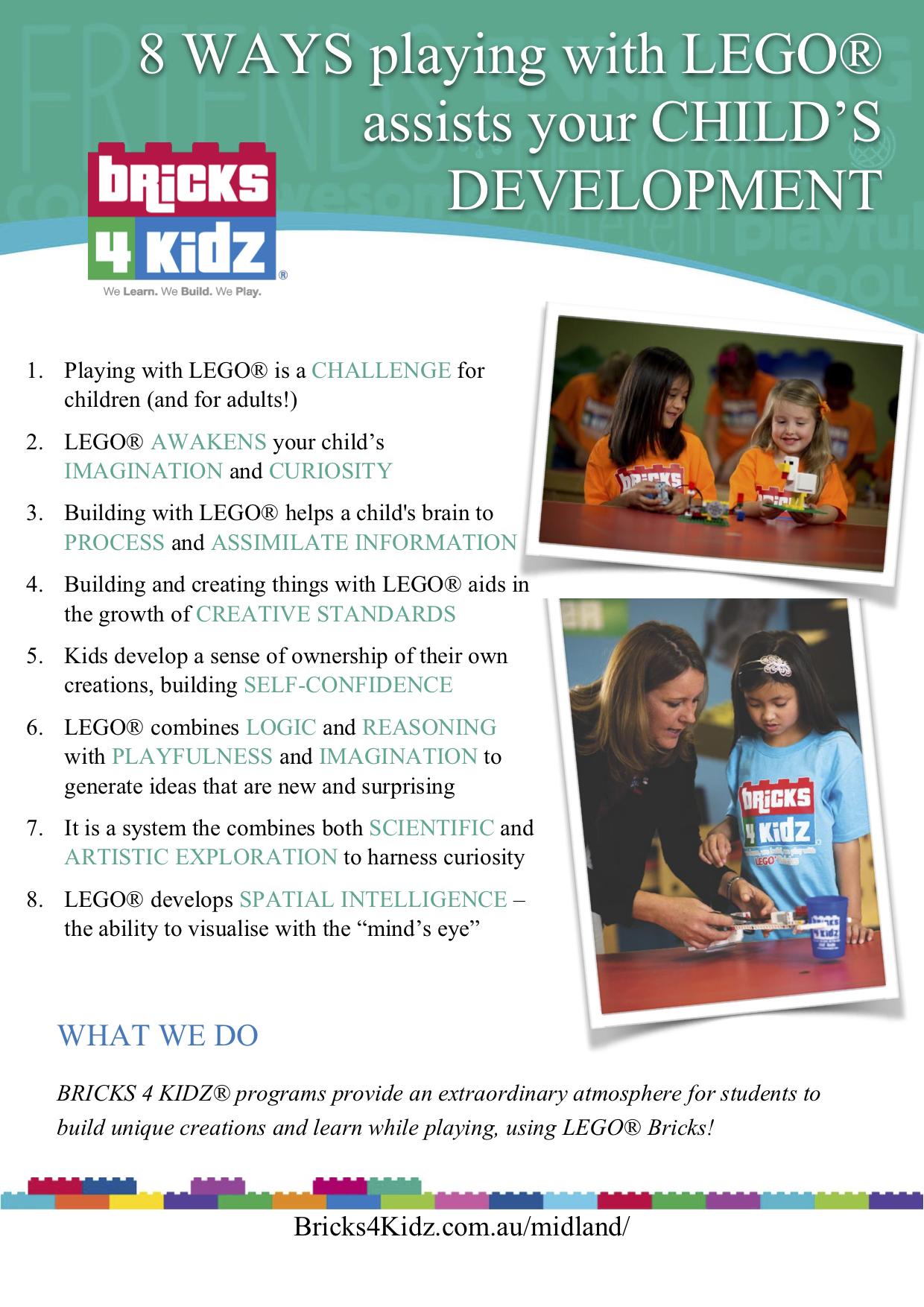 BRICKS 4 KIDZ Midland   8 Ways LEGO Assists Development