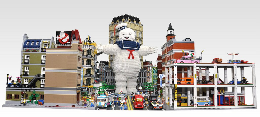 The next thing you think of will destroy the world: Oh No!  A Giant LEGO® Stay Puft Marshmallow Man!
