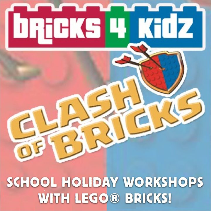 Heads up parents! New school holiday workshop announced: CLASH OF BRICKS, inspired by gaming mega-hit Clash of Clans™!