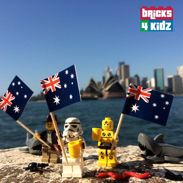 Happy Australia Day!  From all of us at BRICKS 4 KIDZ Lower North Shore, Sydney