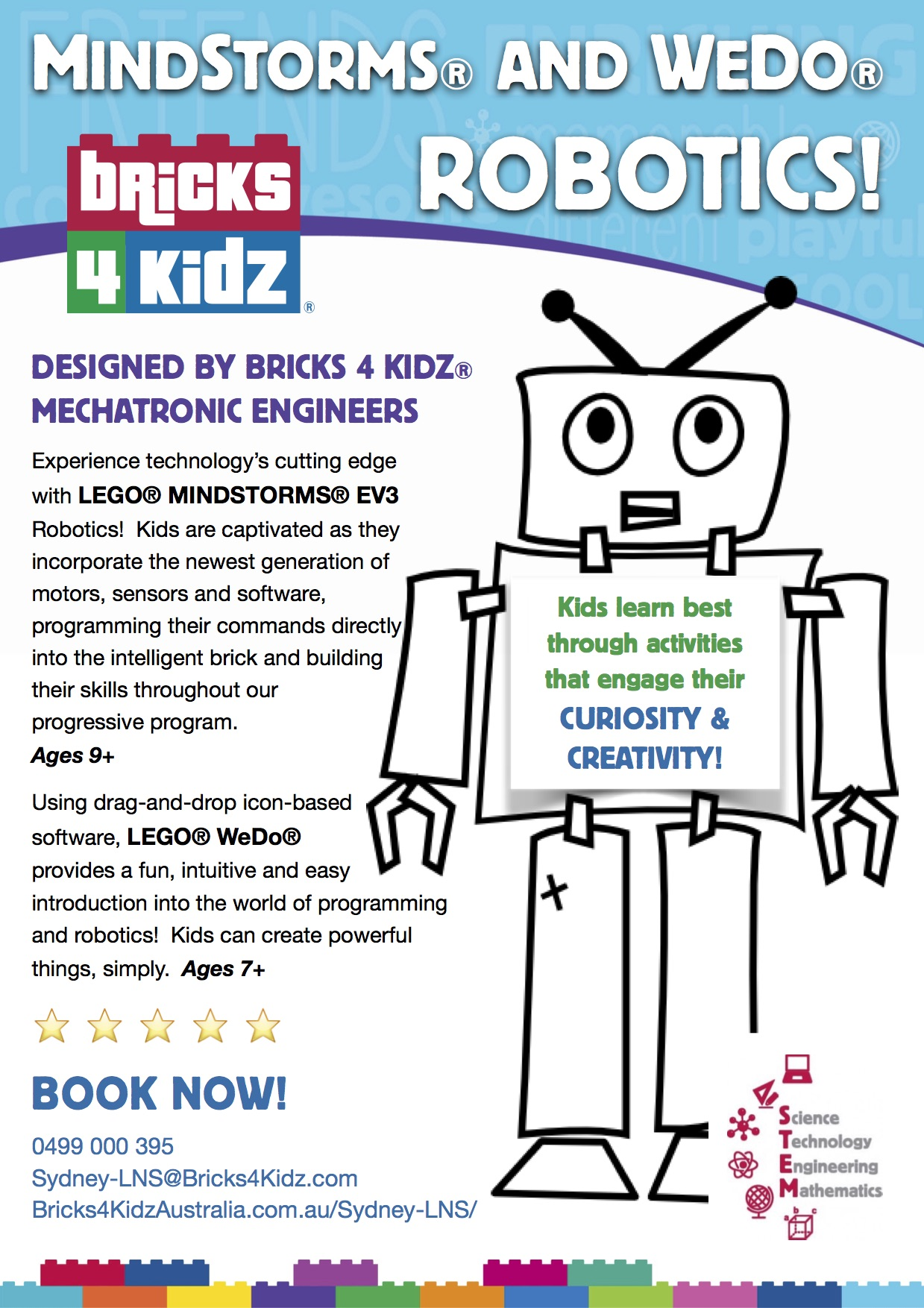 Our Robotics Programs with LEGO® MindStorms® and WeDo® 