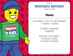 BRICKS 4 KIDZ Birthday Invitation 2
