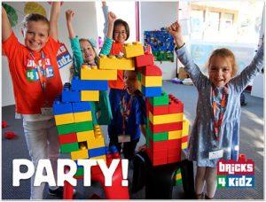 BRICKS 4 KIDZ Kids Birthday Parties are SUPER FUN