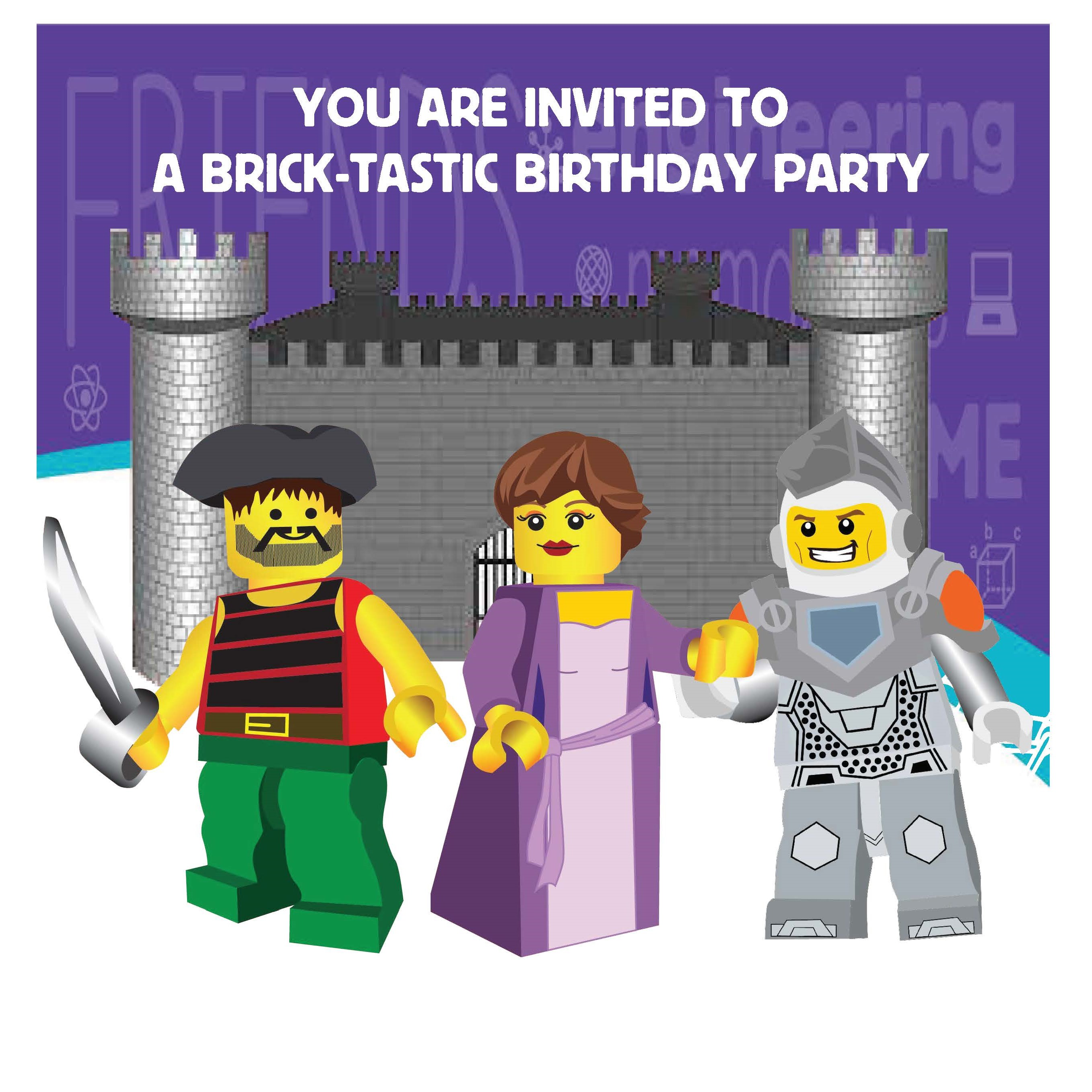 BRICKS 4 KIDZ Party Invitation 2